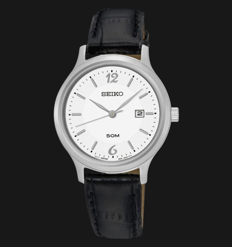 Seiko Classic SUR791P1 Silver Dial Black Leather Strap Machtwatch