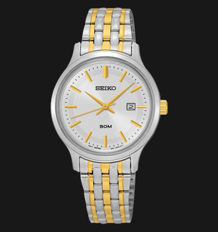 Seiko Classic SUR793P1 Silver Dial Two Tone Stainless Steel Machtwatch