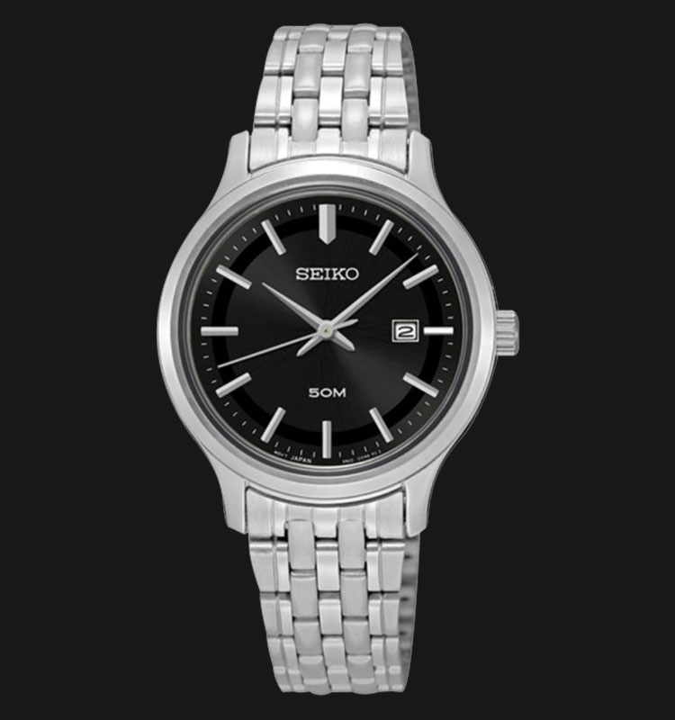 Seiko Classic SUR795P1 Black Dial Stainless Steel Machtwatch