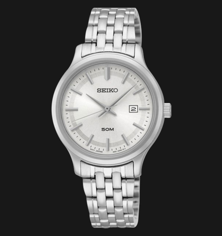 Seiko Classic SUR799P1 Silver Dial Stainless Steel Machtwatch