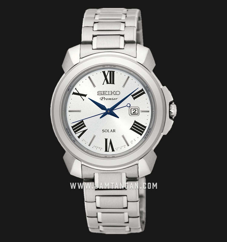 Seiko Premier SUT321P1 Ladies Solar Silver Dial Stainless Steel Machtwatch