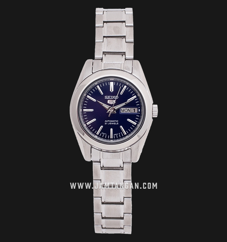 Seiko 5 SYMK15K1 Automatic Ladies Blue Sunray Dial Stainless Steel Strap Machtwatch