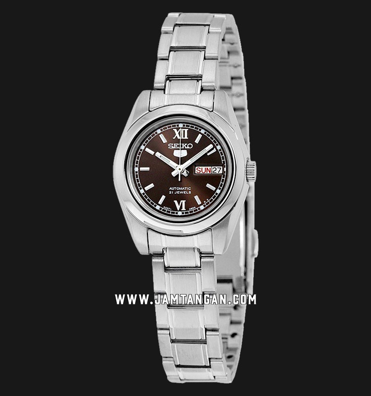 Seiko 5 SYMK25K1 Ladies Brown Dial Stainless Steel Strap Machtwatch