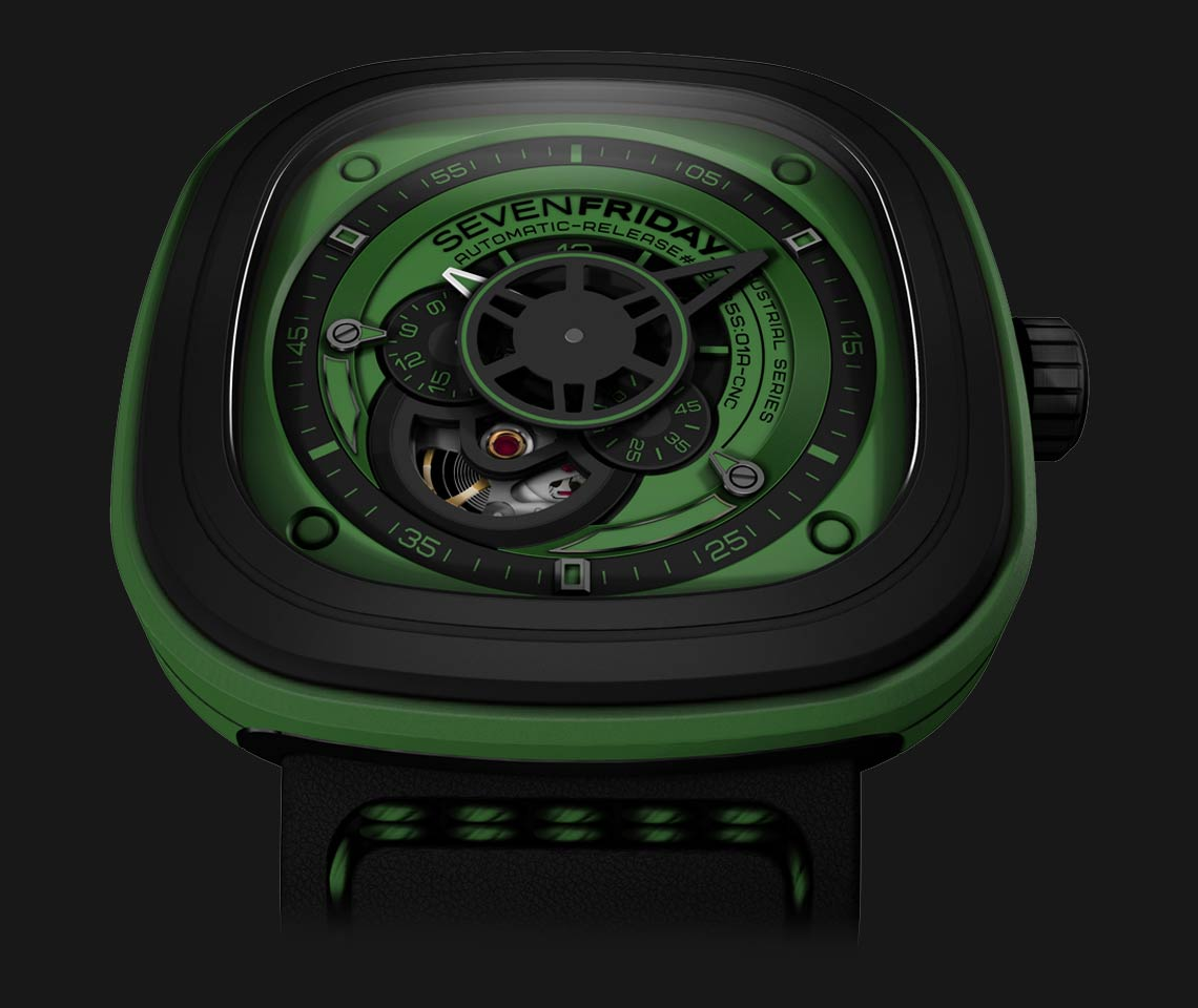 SEVENFRIDAY P1-5 Green - Industrial Essence Machtwatch