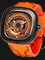 SEVENFRIDAY P3/07 KUKA III Limited Edition Series Automatic Orange Rubber Strap Thumbnail