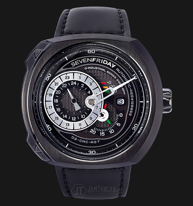 SEVENFRIDAY Q3/01 Q-Series Automatic Miyota 8219 Black Leather Strap Machtwatch