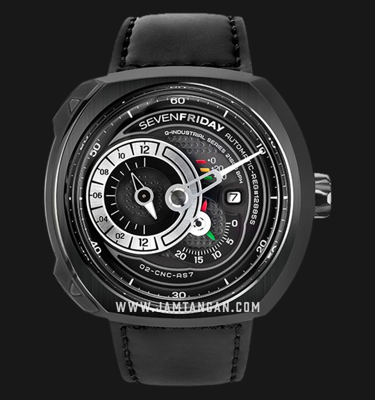 SEVENFRIDAY Q3/05 Engine Q-Series Automatic Black Leather Strap Machtwatch