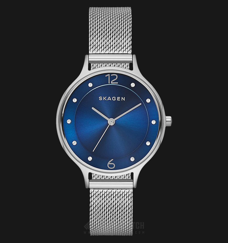 Skagen SKW2307 Anita Ladies Blue Sunray Dial Stainless Steel Strap Machtwatch