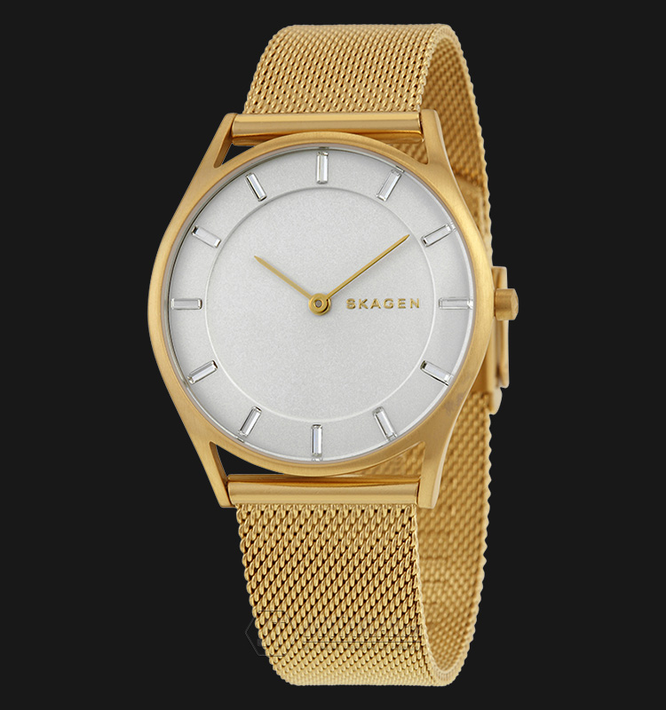 Skagen SKW2377 Holst White Dial Gold Stainless Steel Mesh Strap Watch Machtwatch