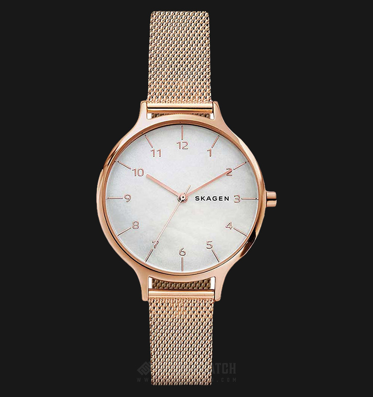 Skagen SKW2633 Anita Ladies White Mother of Pearl Dial Rose Gold Stainless Steel Strap Machtwatch