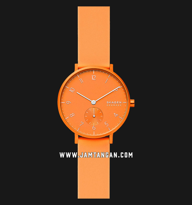 Skagen Aaren Kulor SKW2821 Neon Orange Dial Neon Orange Rubber Strap Machtwatch