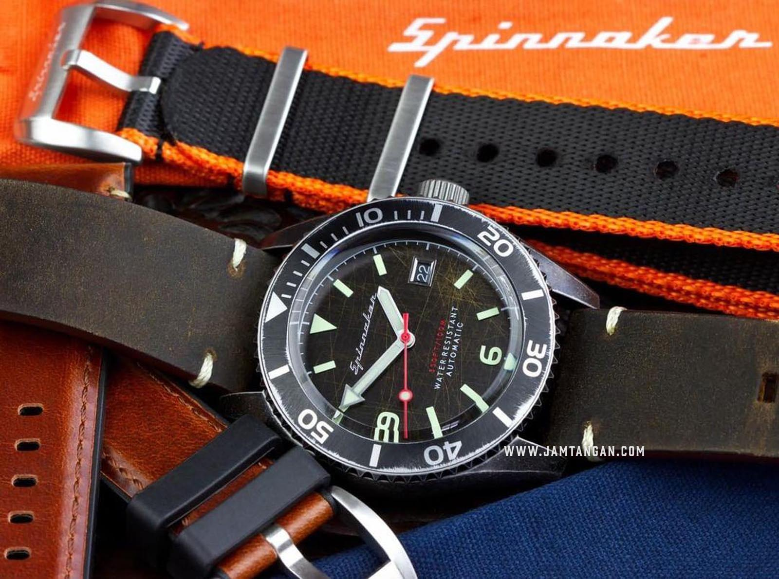 Strap Spinnaker Marino Italian Made 22mm Light Brown Leather SP-STRAP22-L02 Machtwatch