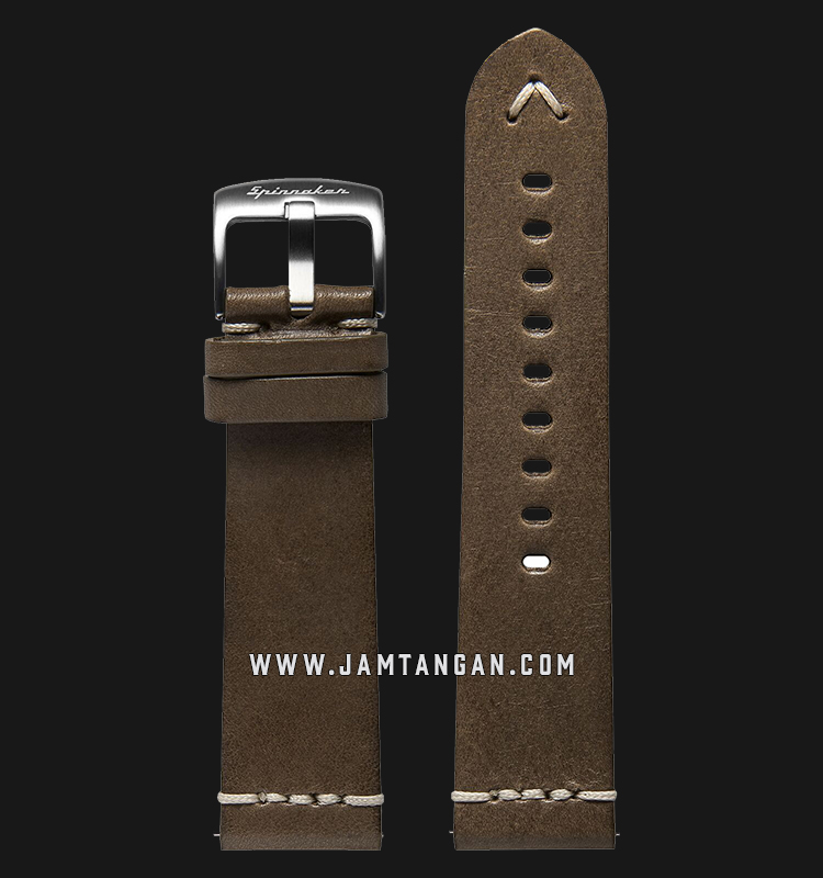 Strap Spinnaker Marino Italian Made 24mm Light Brown Leather SP-STRAP24-L02 Machtwatch