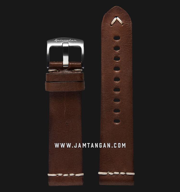 Strap Spinnaker Marino Italian Made 24mm Dark Brown Leather SP-STRAP24-L04 Machtwatch