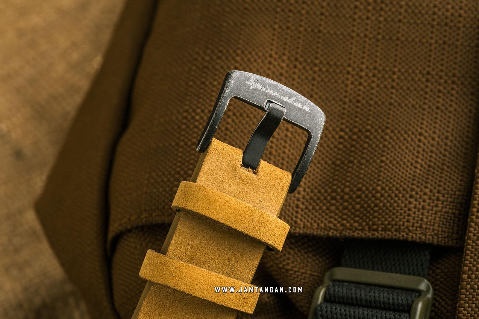 Spinnaker SP-5051-03 Vintage Wreck Men Grey Dial Brown Leather Strap Machtwatch