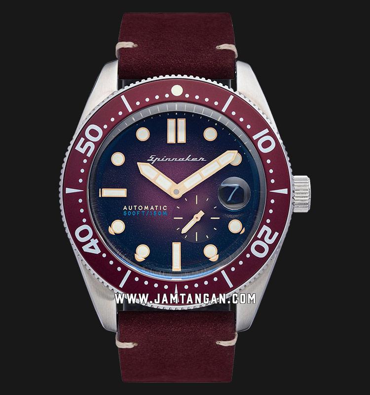 Spinnaker SP-5058-09 Vintage Croft Men Red Dial Red Leather Strap Machtwatch