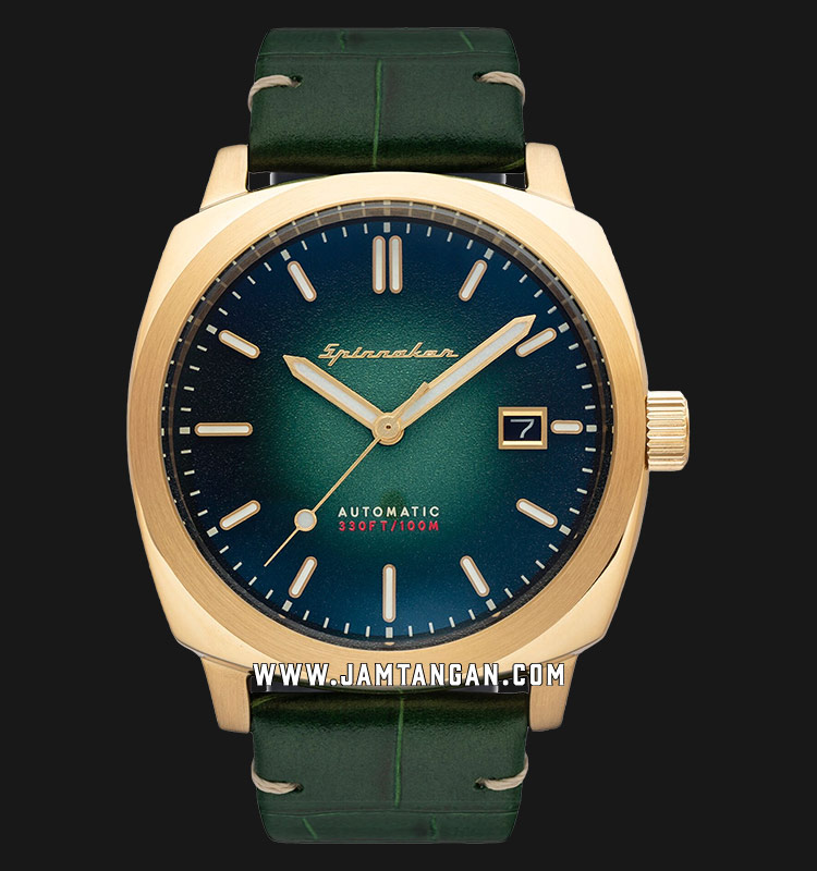 Spinnaker Hull Riviera SP-5072-03 Men Green Dial Green Leather Strap Machtwatch