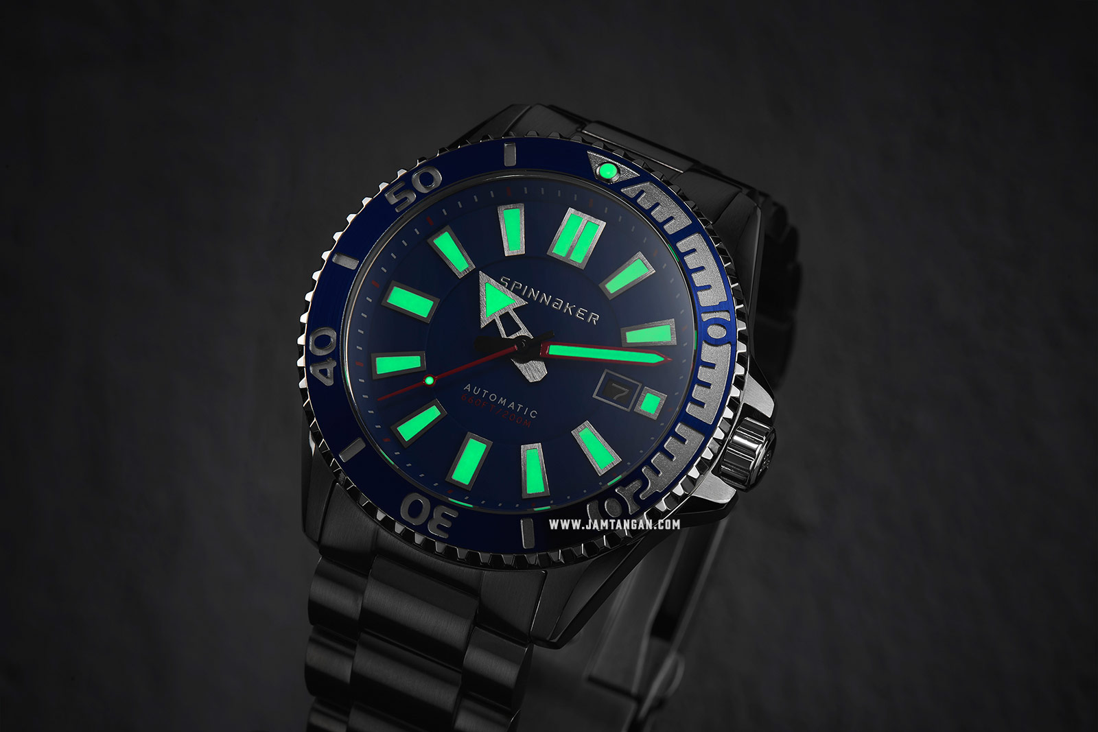 Spinnaker Amalfi Diver SP-5074-22 Men Blue Dial Stainless Steel Strap Machtwatch