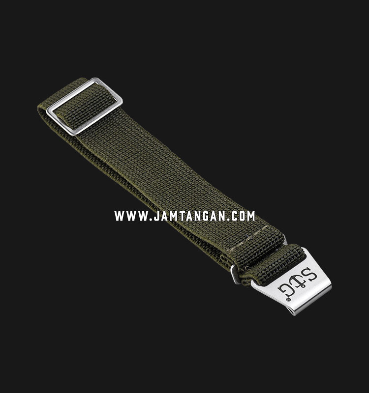 Strap Guy MN-GRN-20A Green Nylon Silver Folding Clasp Machtwatch