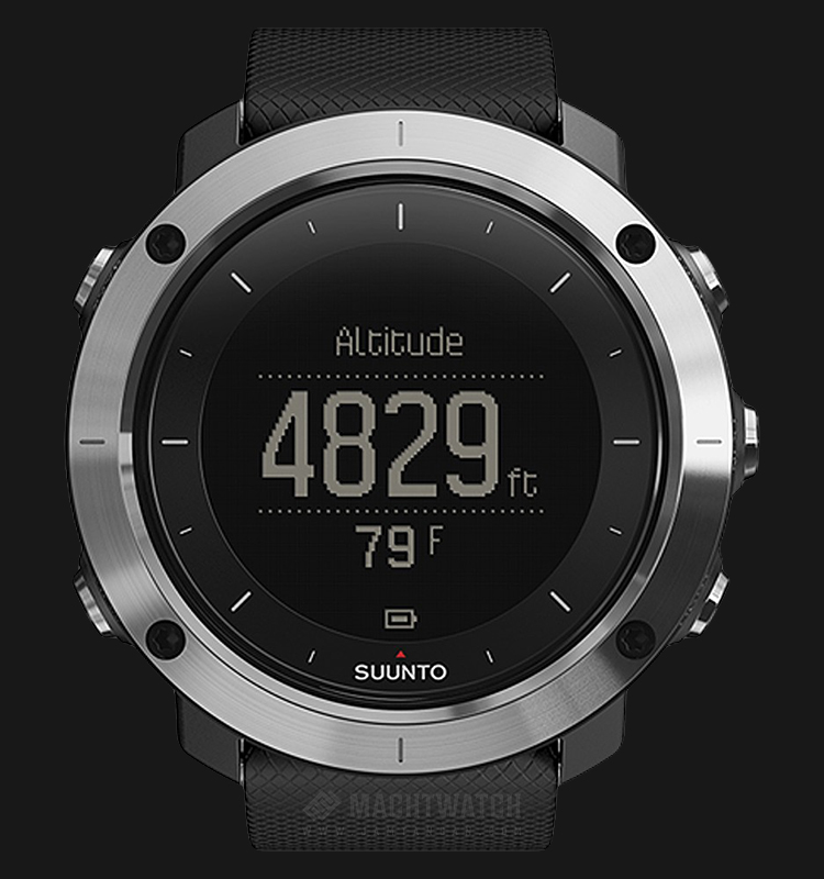 Suunto SS021843000 Traverse Black Digital Dial Black Rubber Strap Machtwatch