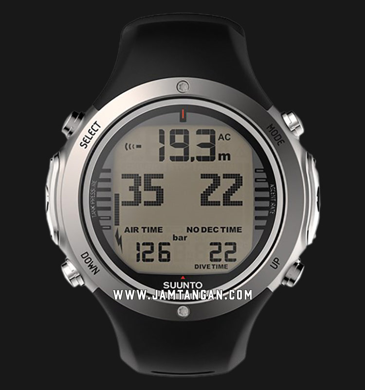 Suunto SS021949000 D6I Novo Digital Dial Black Rubber Straps Machtwatch