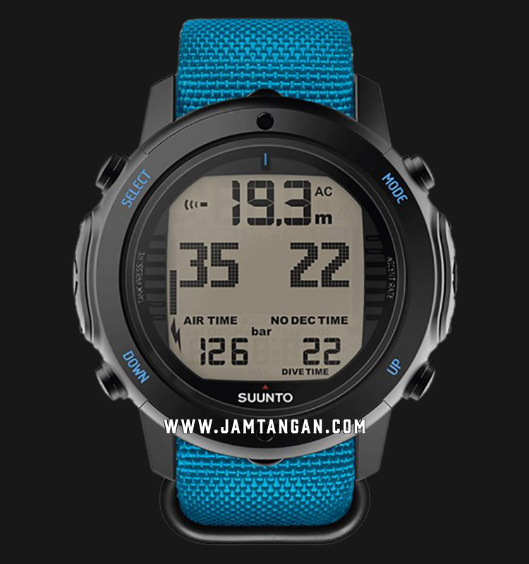 Suunto SS022910000 D6I Novo Instructor Digital Dial Blue Nylon Straps Machtwatch