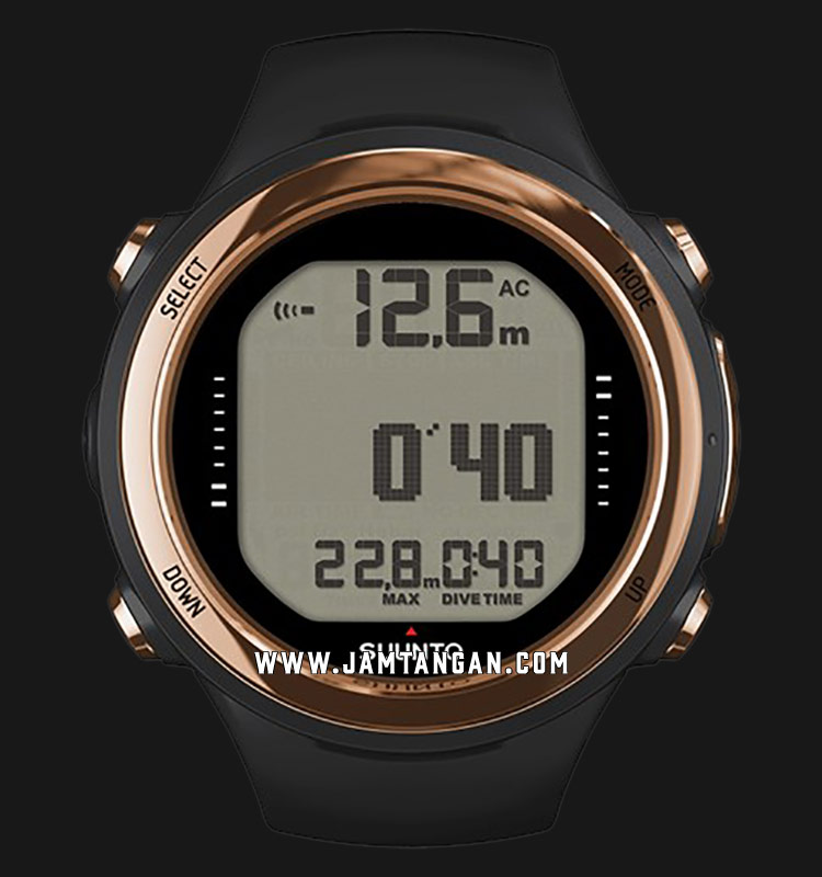 Suunto SS050126000 D4I Novo Copper Digital Dial Black Rubber Straps Machtwatch