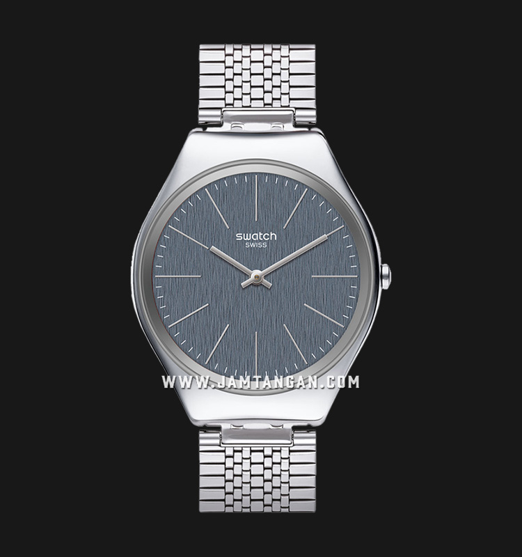 Swatch SYXS122GG Skinportchic Men Grey Dial Stainless Steel Strap