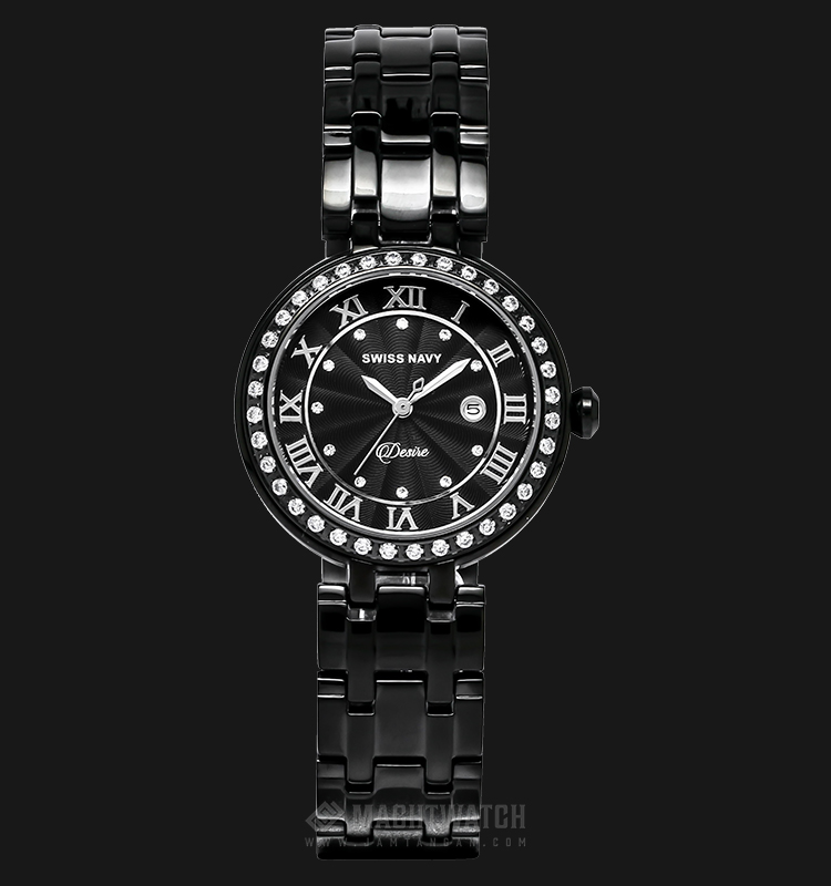 SWISS NAVY Desire 8347LABBK Ladies Black Dial Stainless Steel Machtwatch