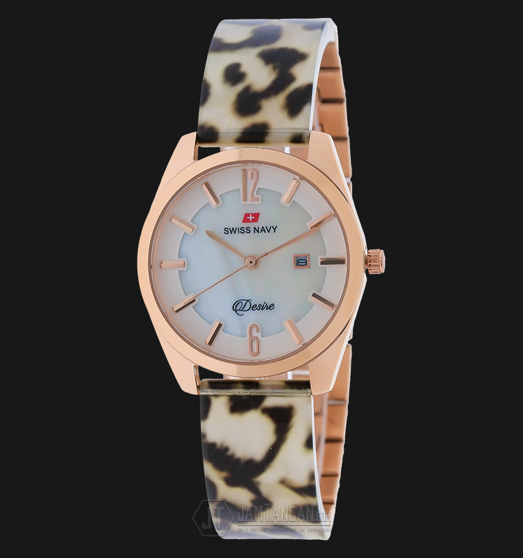 SWISS NAVY 8974LRGWB Women Mother Of Pearl Dial Stainless Steel Machtwatch