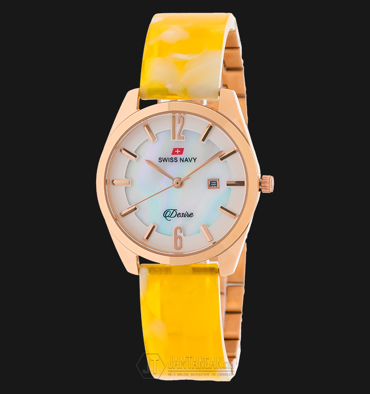 SWISS NAVY 8974LRGYW Women Mother Of Pearl Dial Stainless Steel Machtwatch