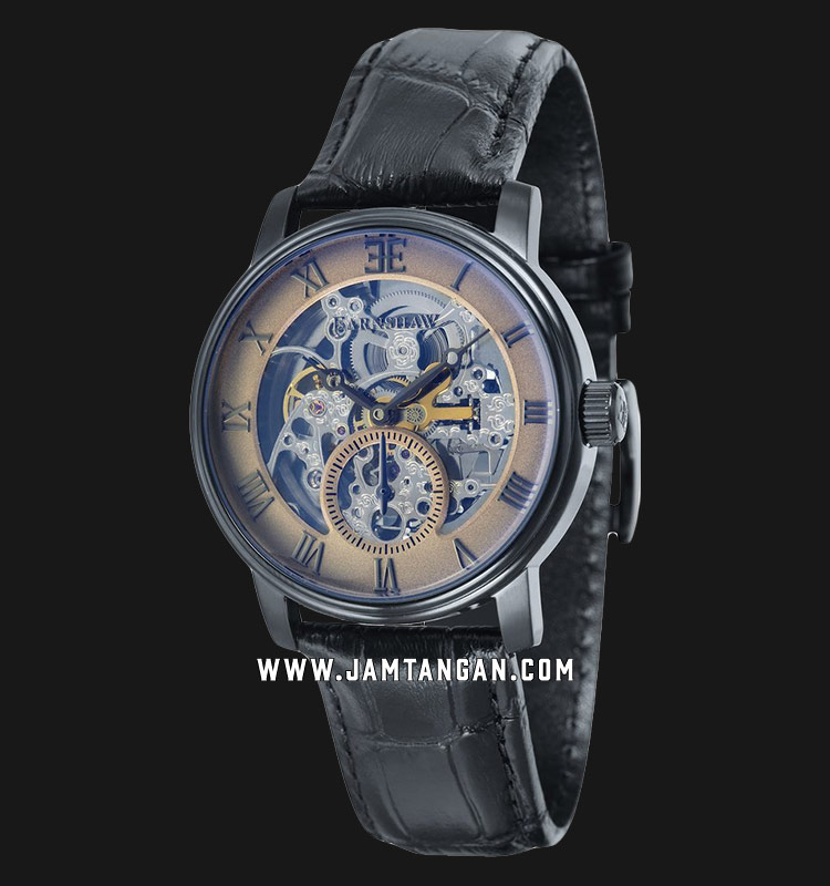 Thomas Earnshaw ES-8041-06 Westminster Automatic Skeleton Dial Black Leather Strap Machtwatch