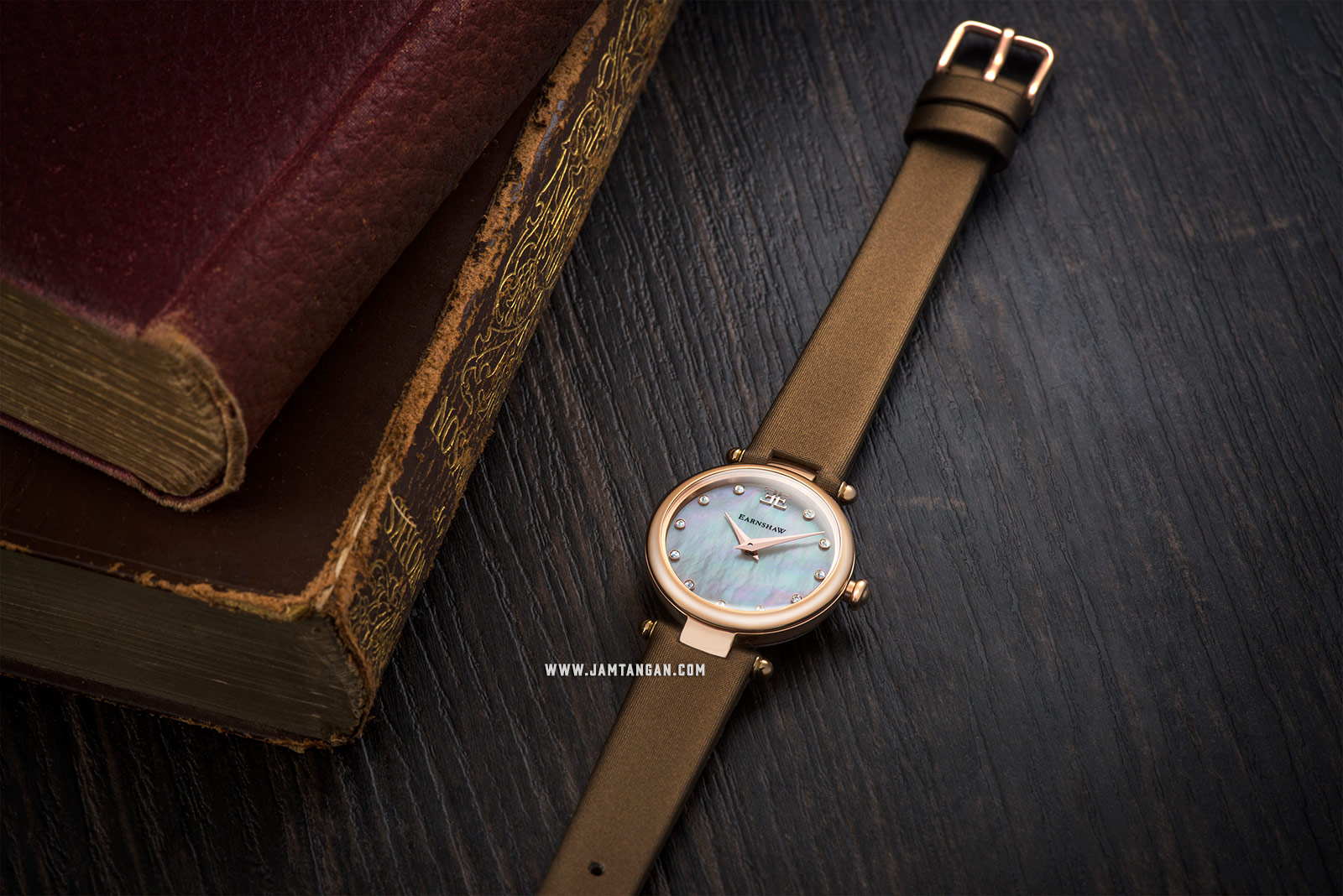 Thomas Earnshaw ES-8067-03 Charlotte Mother Of Pearl Dial Brown Leather Strap Machtwatch