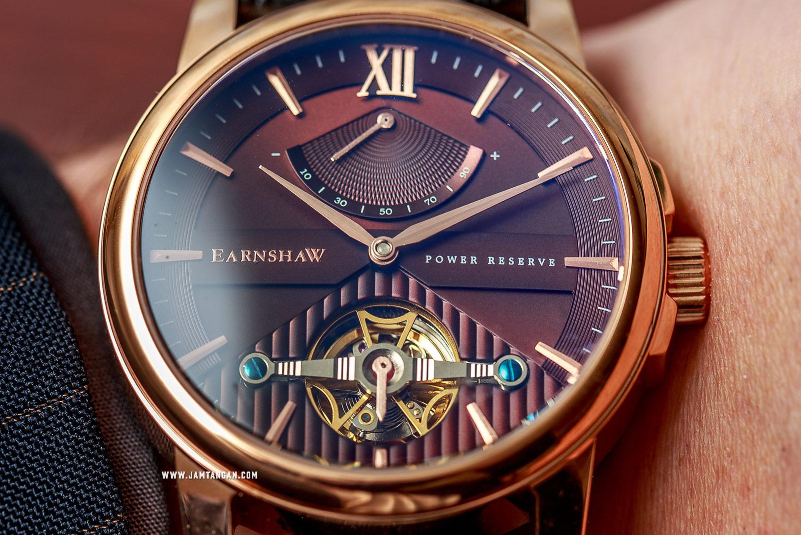 Thomas Earnshaw ES-8080-03 Flinders Brown Dial Black Leather Strap Machtwatch