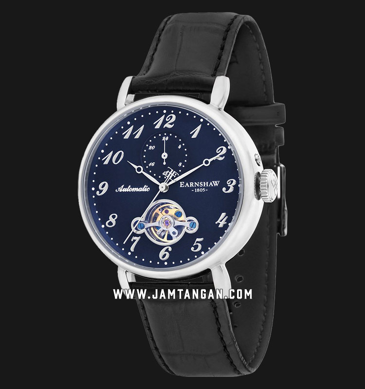 Thomas Earnshaw ES-8088-03 Grand Legacy Automatic Open Heart Dial Black Leather Strap Machtwatch
