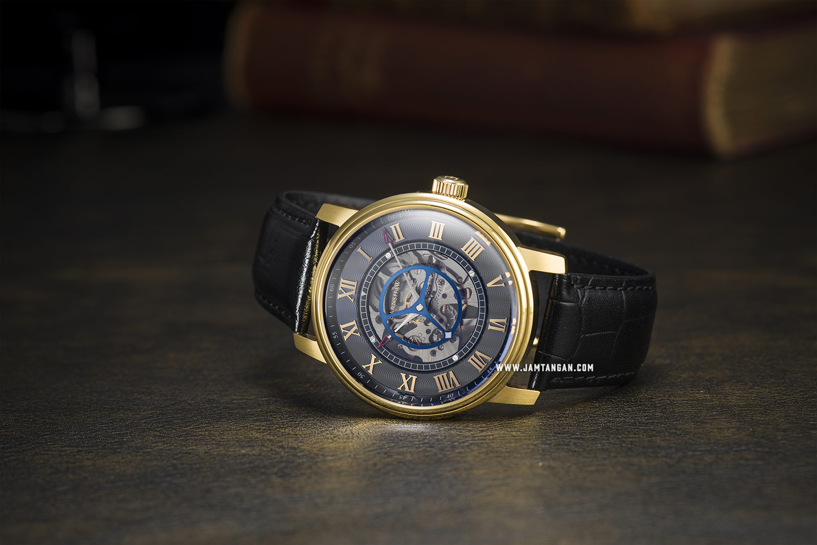 Thomas Earnshaw ES-8096-02 Westminster Skeleton Dial Black Leather Strap Machtwatch