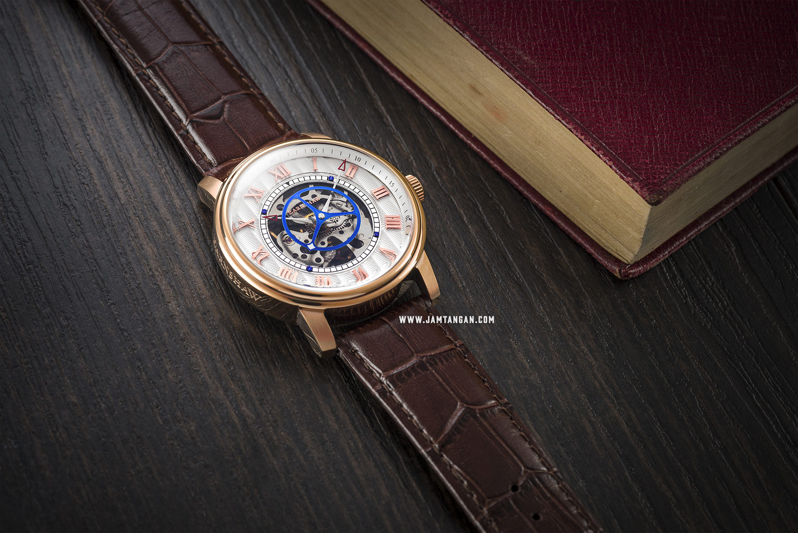 Thomas Earnshaw ES-8096-03 Westminster Skeleton Dial Brown Leather Strap Machtwatch