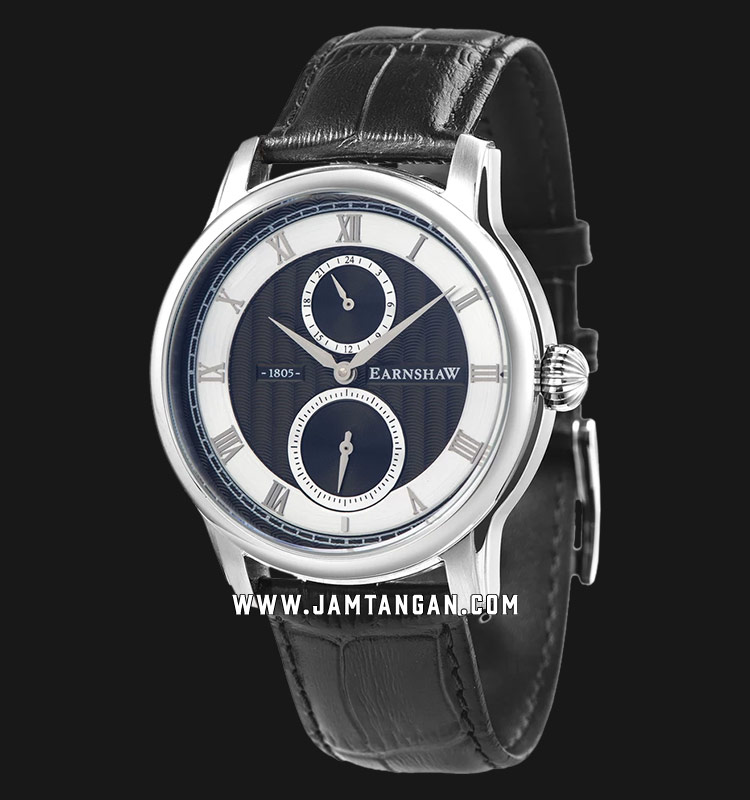 Thomas Earnshaw ES-8106-04 Longitude Multi-Function Black Dial Black Leather Strap Machtwatch