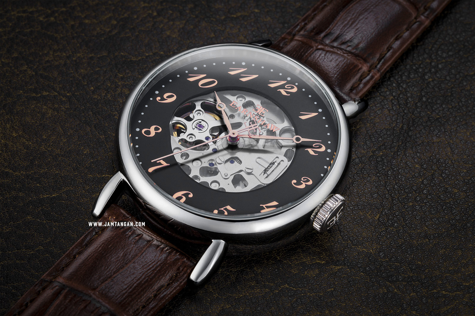 Thomas Earnshaw ES-8810-03 Grand Legacy Skeleton Dial Brown Leather Strap Machtwatch