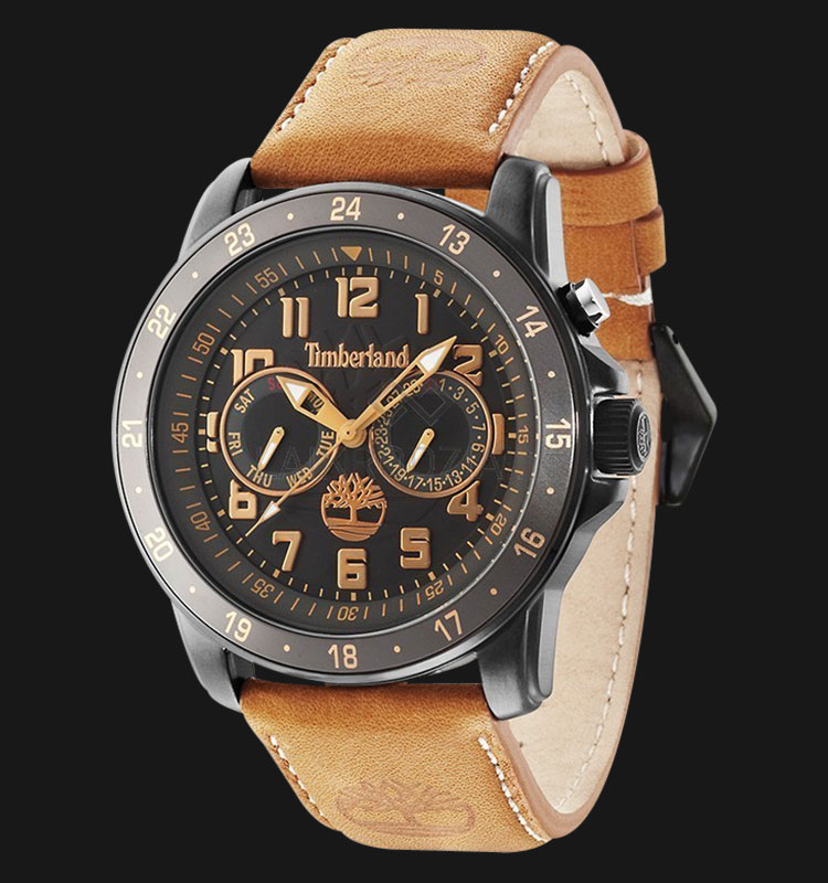 Timberland TBL.14109JSBU/02 Black Dial Brown Leather Strap Machtwatch