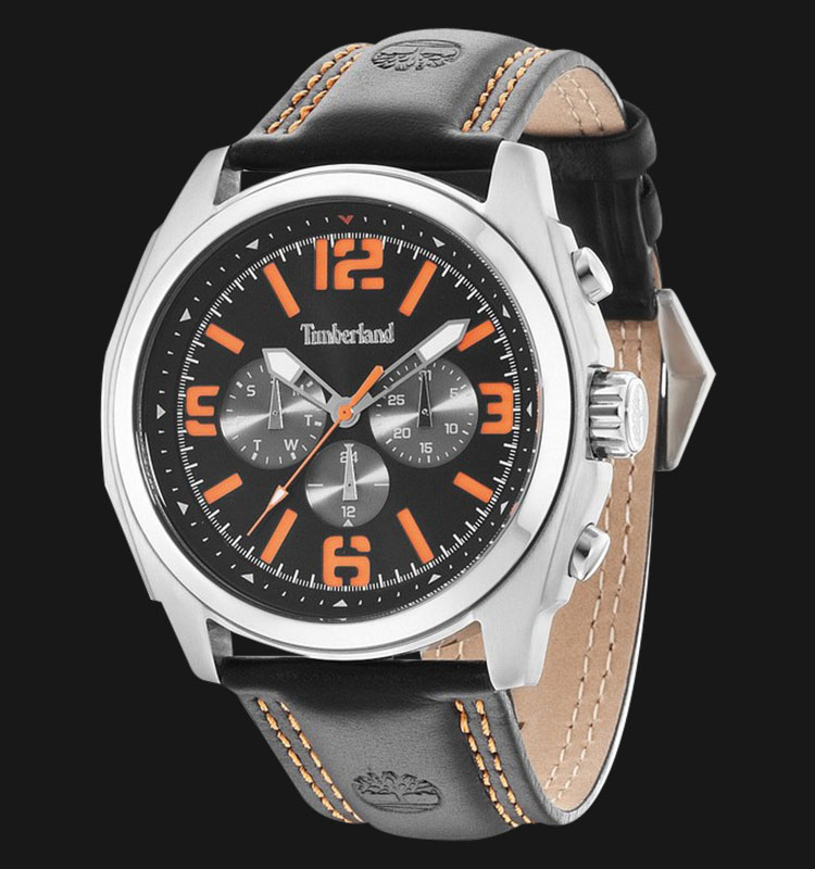 Timberland TBL.14366JS/02 Black Dial Brown Leather Strap Machtwatch