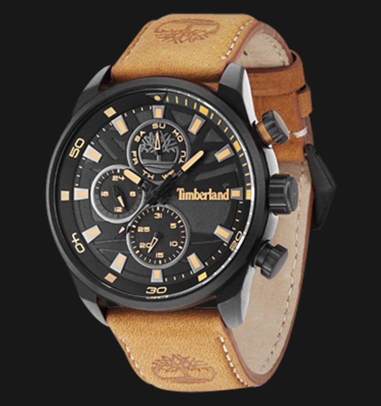 Timberland TBL.14441JLB/02 Black Dial Brown Leather Strap Machtwatch