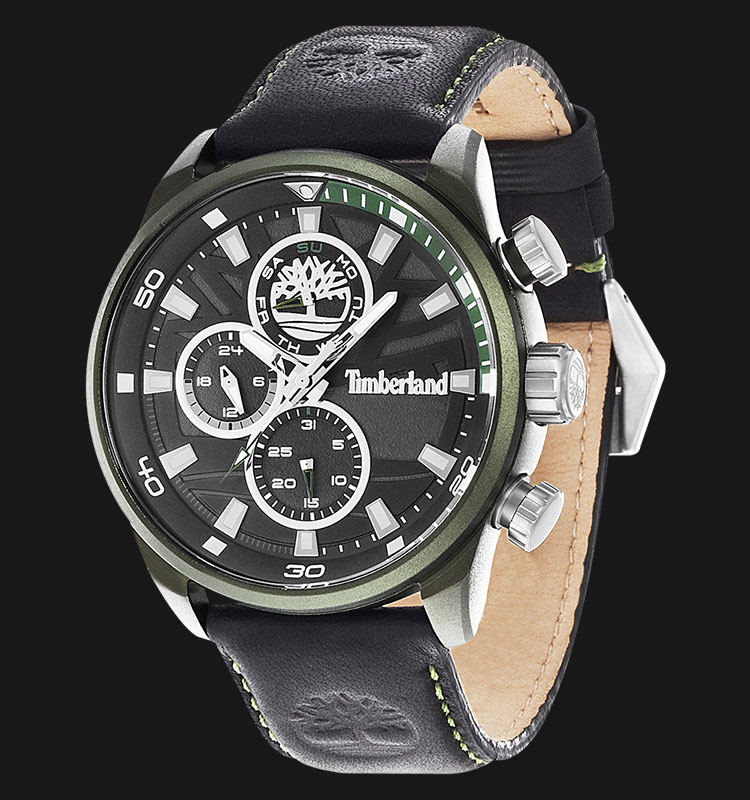 Timberland TBL.14441JLGN/02 Black Dial Black Leather Strap Machtwatch