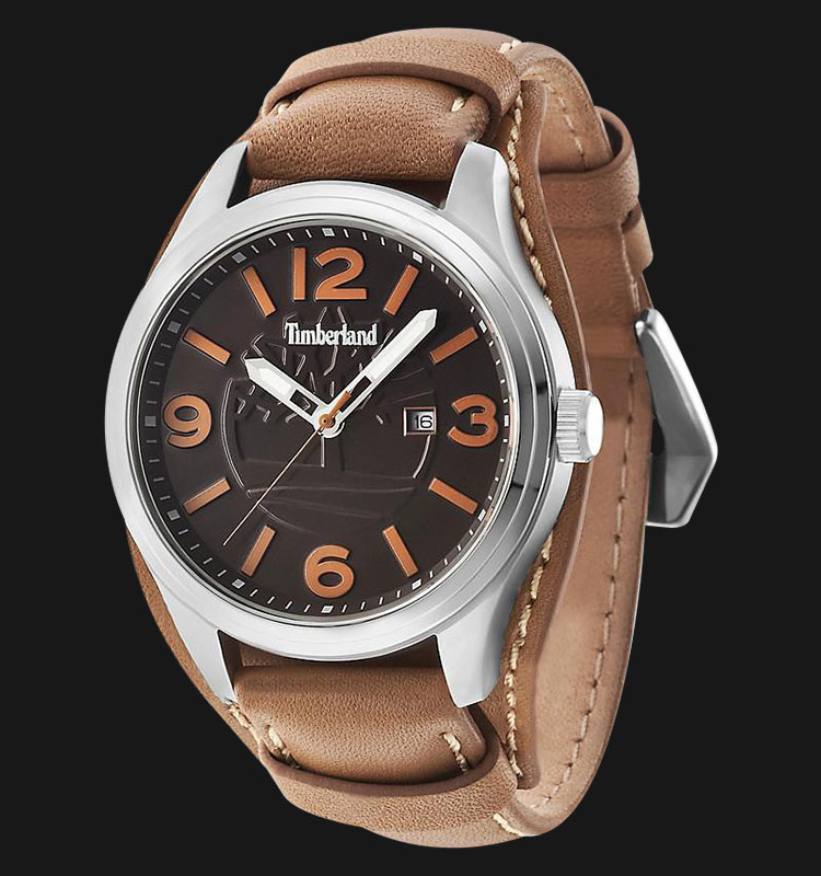 Timberland TBL.14476JS/12 Black Dial Brown Leather Strap Machtwatch
