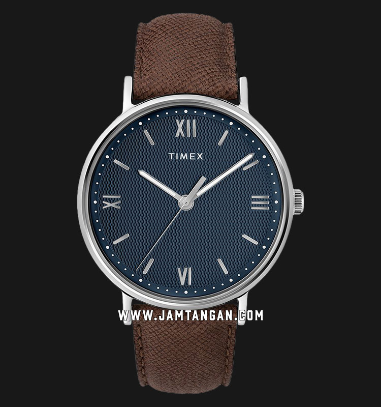 Timex TW2T34800 Southview Blue Dial Brown Leather Strap Machtwatch