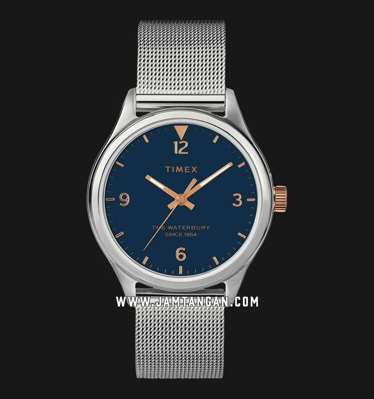 Timex TW2T36300 Waterbury Traditional Blue Dial Mesh Strap Machtwatch
