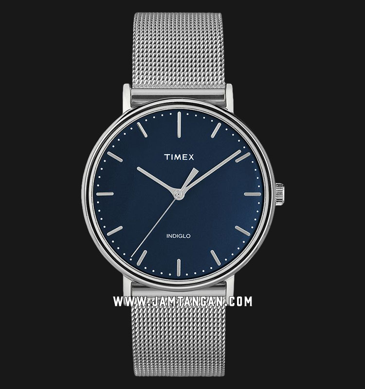 Timex TW2T37000 INDIGLO® Fairfield Blue Dial Stainless Steel Strap Machtwatch