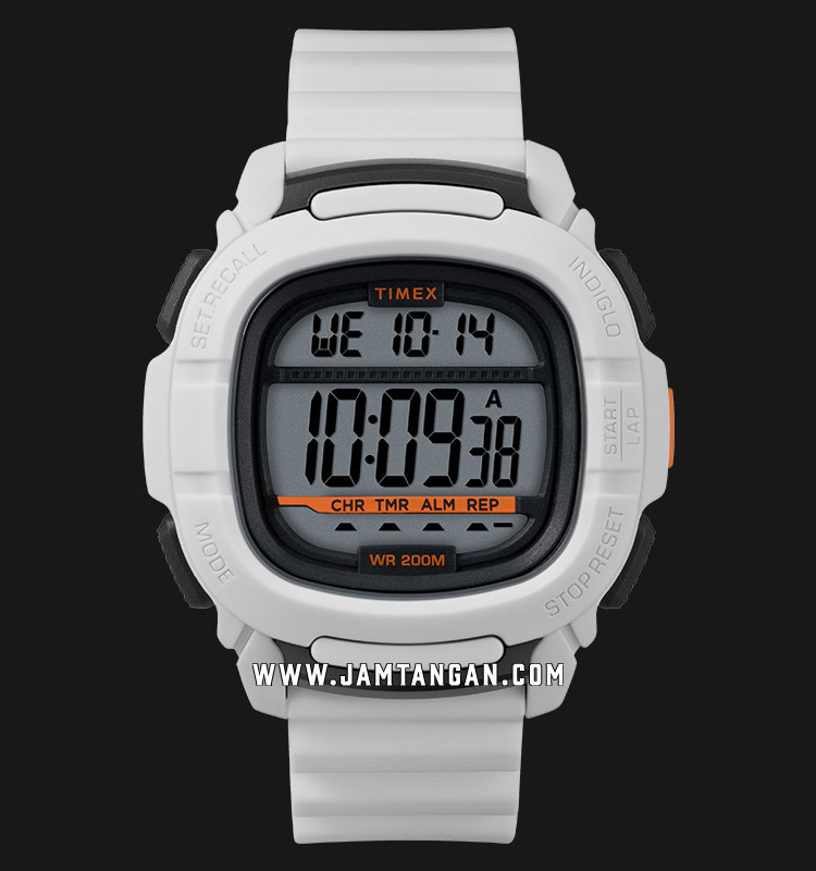 Timex TW5M26400 Command™ Digital Dial White Resin Strap Machtwatch