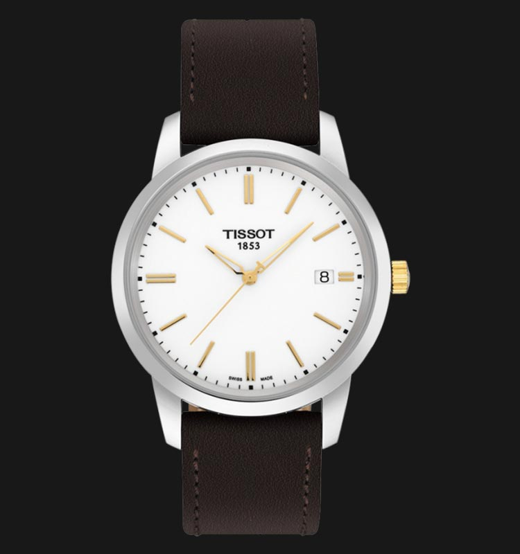 Tissot Classic Dream T033.410.26.011.01 White Dial Brown Leather Strap Machtwatch