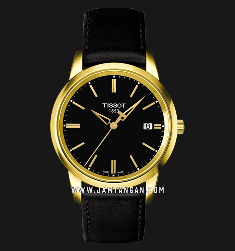 Tissot T033.410.36.051.01 Classic Dream Black Dial Black Leather Strap Machtwatch